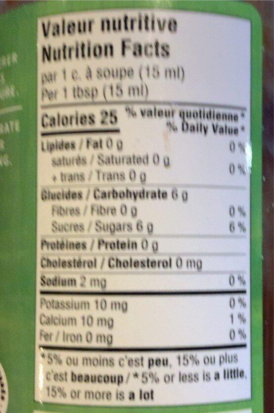 Confiture fraises et rhubarbe - Informations nutritionnelles - fr