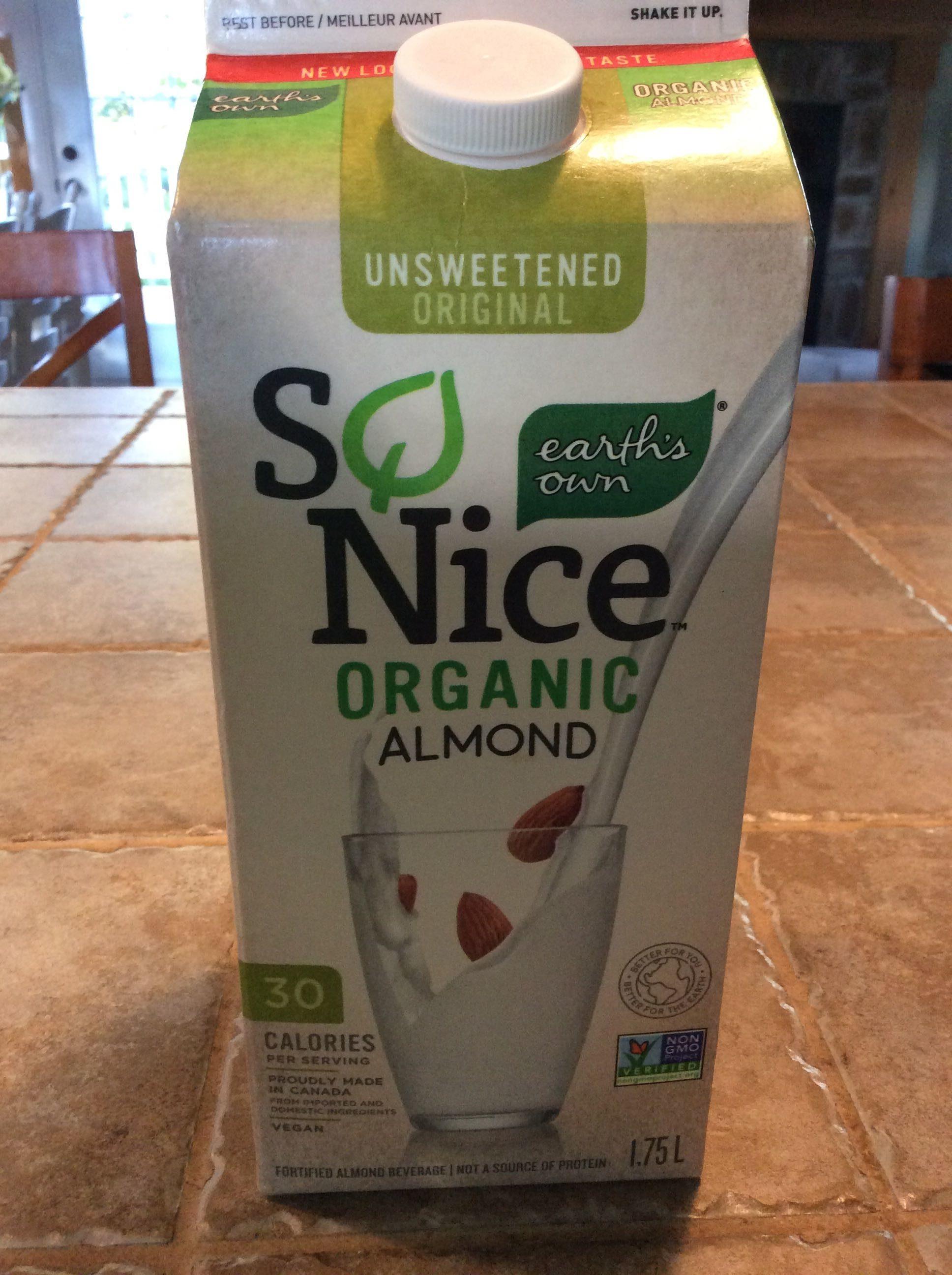 So Nice Almond Unsweet Org Fresh - Produit - fr