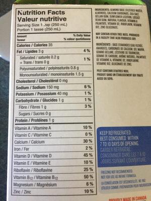 Boisson Aux Amandes (non Sucrée) - Product - en