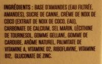 Lait Amande/noix de coco - Ingrédients - fr
