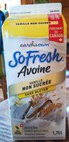 So Fresh AVOINE Vanille non sucrée Sans gluten - Product - en