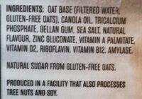 So Fresh AVOINE Vanille non sucrée Sans gluten - Ingredients - en