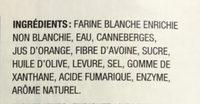 Pain carré - Ingredients - fr