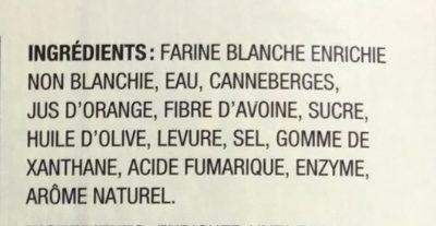 Pain carré - Ingredients