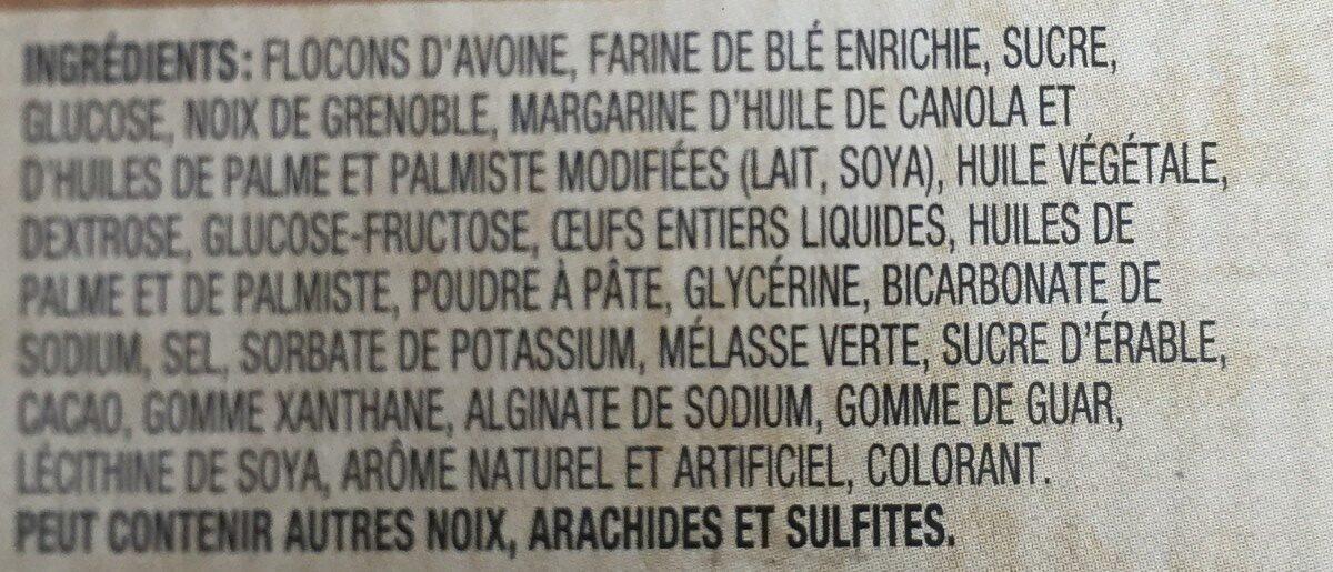 Biscuits (érable & Noix) - Ingrediënten