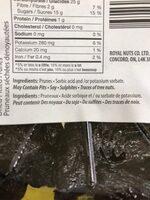 Prunes séchés dénoyautées - Ingredients - fr