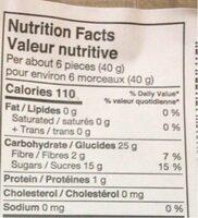 Prunes séchés dénoyautées - Nutrition facts - fr