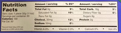 Crispy rusk cake - Nutrition facts