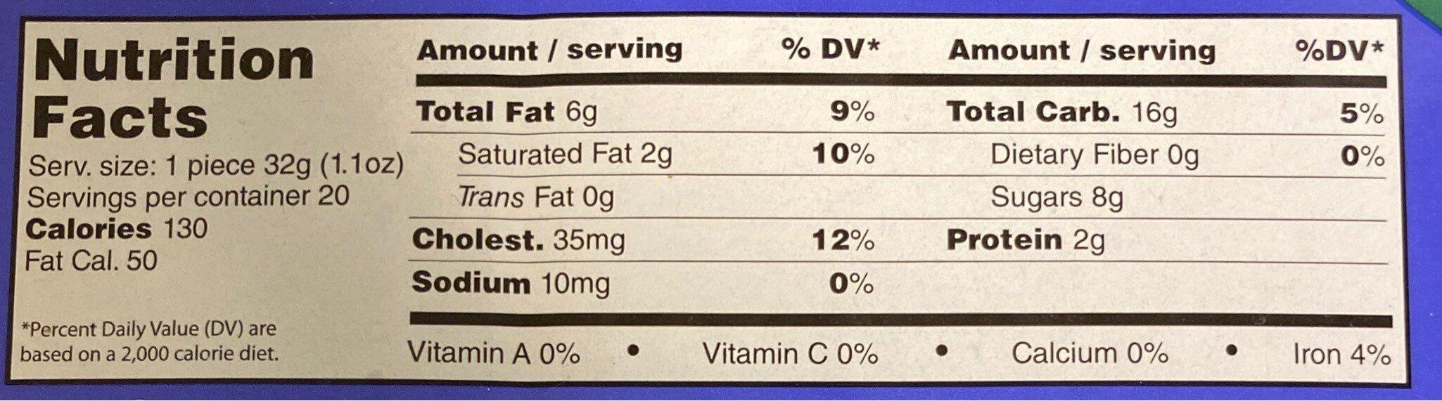 Crispy rusk cake - Nutrition facts - en