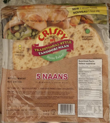 Tandoori naan - Product - fr