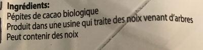 Pepites de cacao - Ingrédients - fr