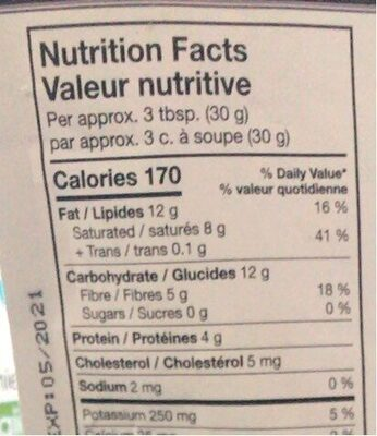 Pepites de cacao - Informations nutritionnelles - fr
