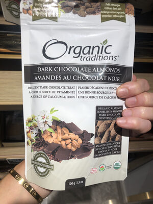 Dark chocolate almonds - Product