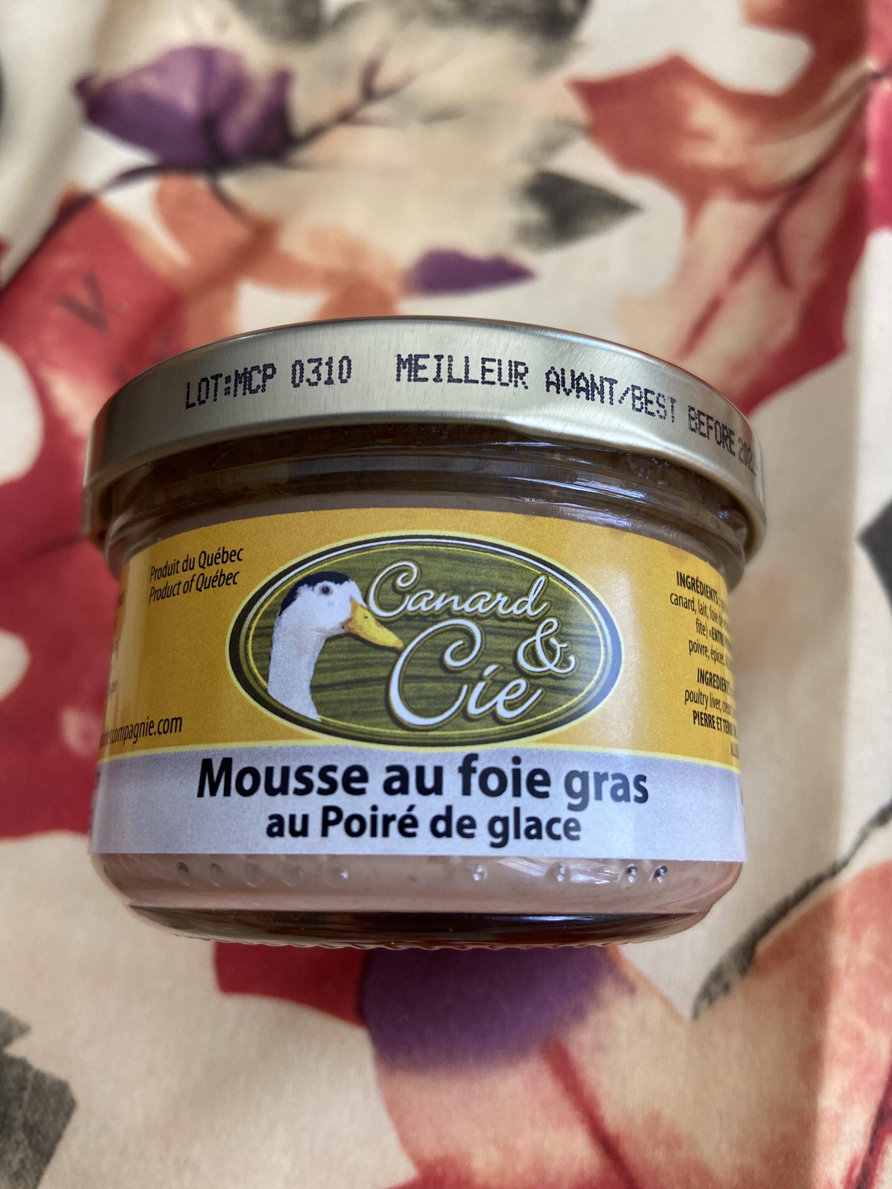Mousse au foie gras au Poiré de glace - Product - en