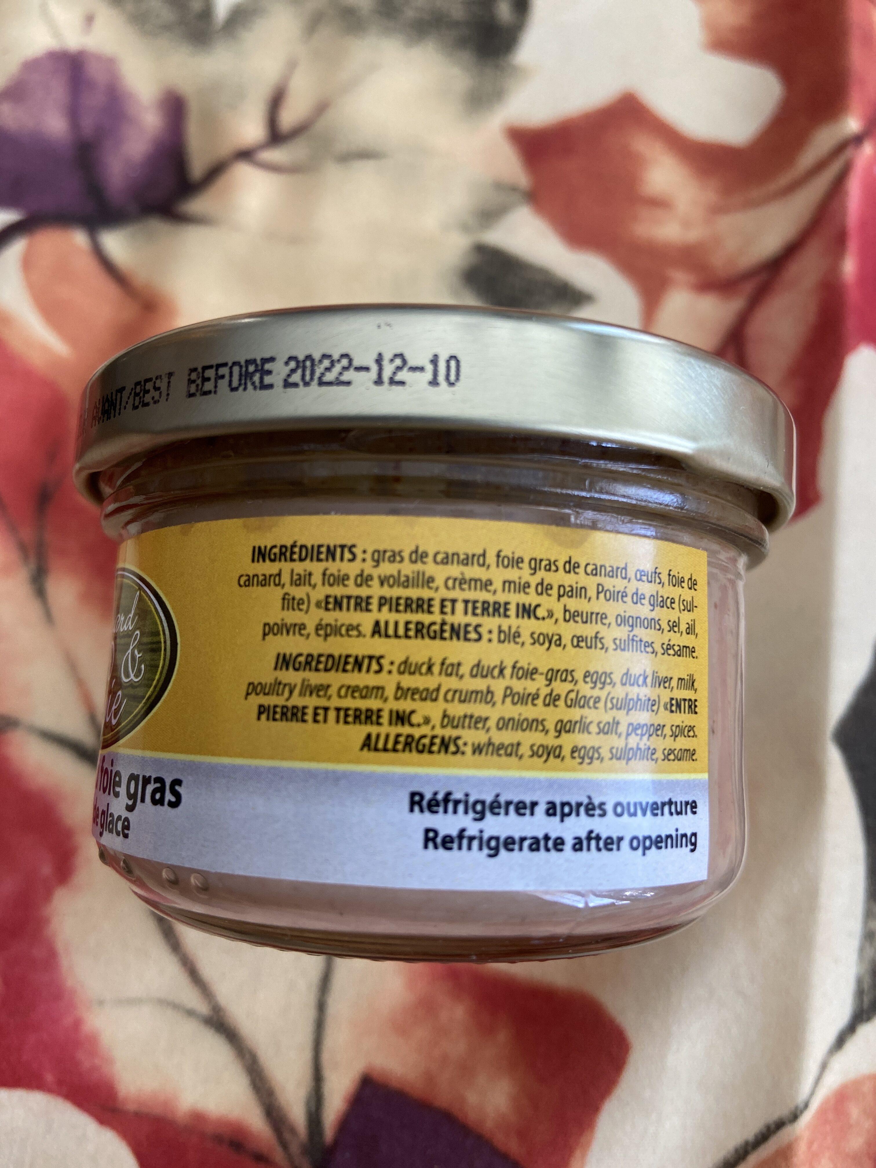 Mousse au foie gras au Poiré de glace - Ingredients - en