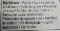 Lanières de poitrine de poulet roties a la flammr - Ingrédients - fr