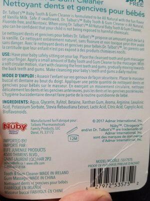 nuby - Ingredients - en