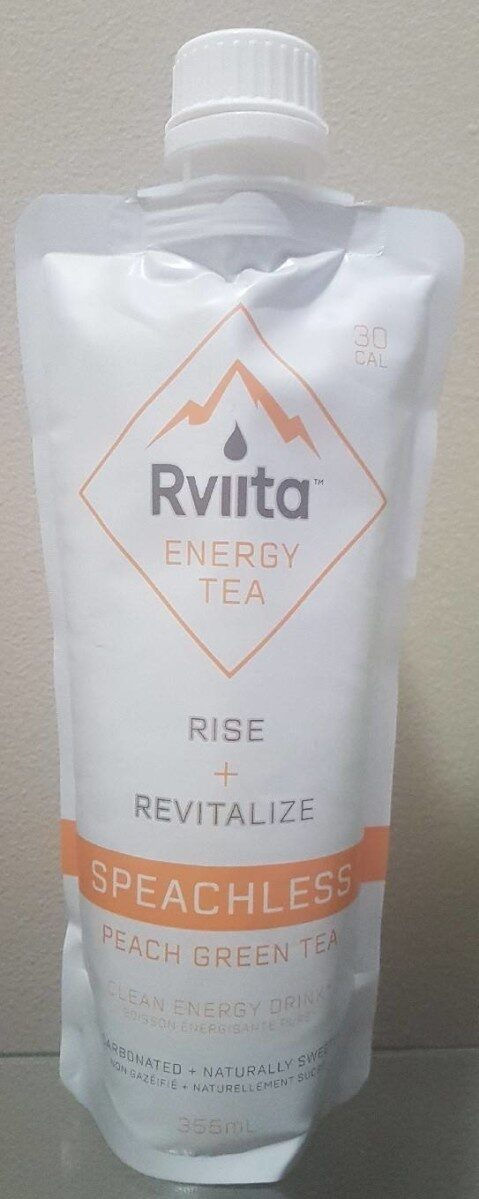 Rviita Energy Tea - Speachless Peach Green Tea - Produit - fr