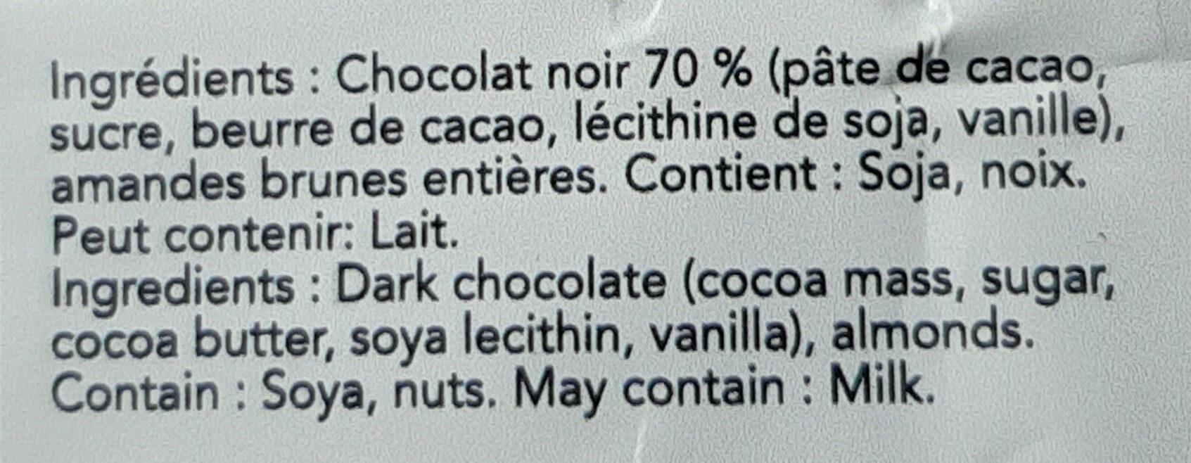 Brisures de chocolat noir 70% - Ingredients - fr