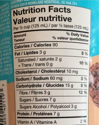 Coolway choco - Nutrition facts - en