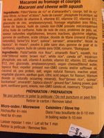 Macaroni au fromage et courges - Ingrediënten
