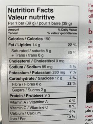 Love Good fats - Nutrition facts - en