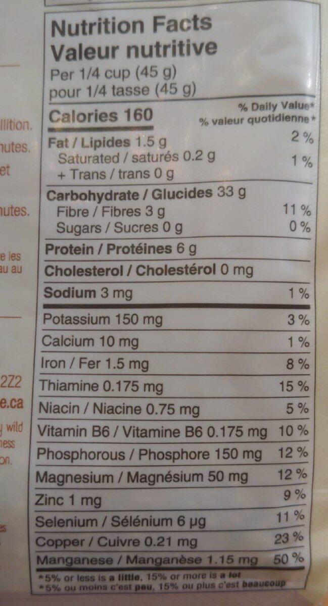 Sprouted crimson lentils - Nutrition facts - en