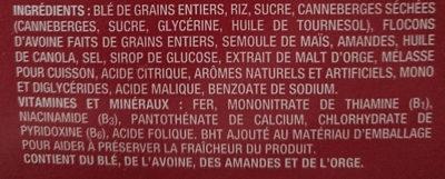 Canneberges et amandes croquantes - Ingrédients - fr