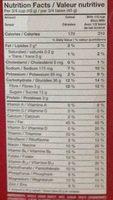 Canneberges et amandes croquantes - Informations nutritionnelles - fr