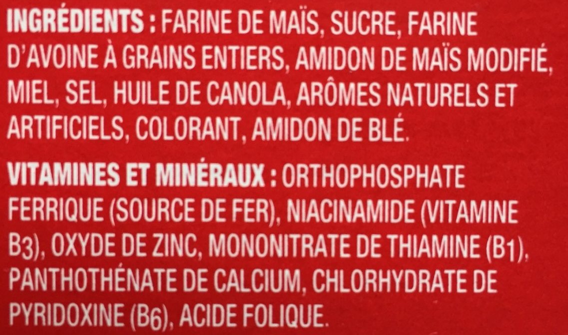 Honeycomb - Ingrédients - fr