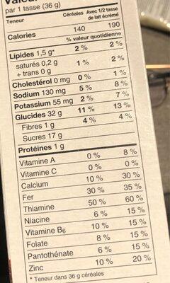 Timbits chocolat glacé - Informations nutritionnelles - fr