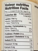 Mayo Bacon - Nutrition facts - fr