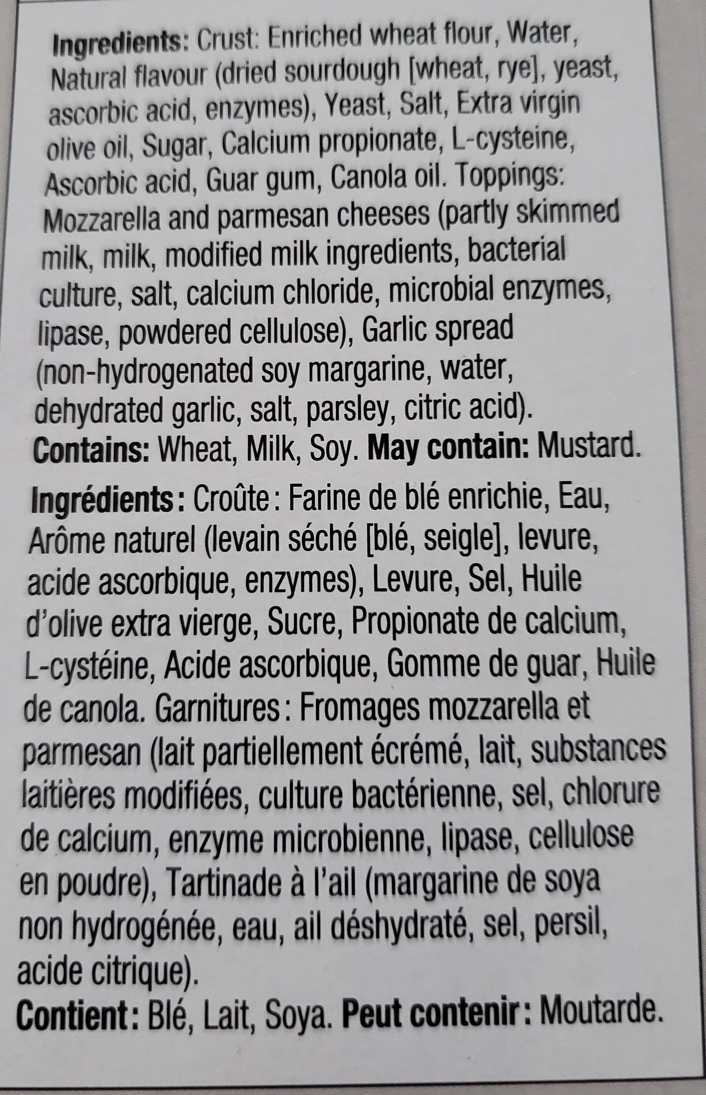 Batonnet à l'ail et au fromage - Ingrédients - fr