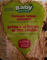 Gruau bananes raisins (cereales pour bebe) - Product - fr