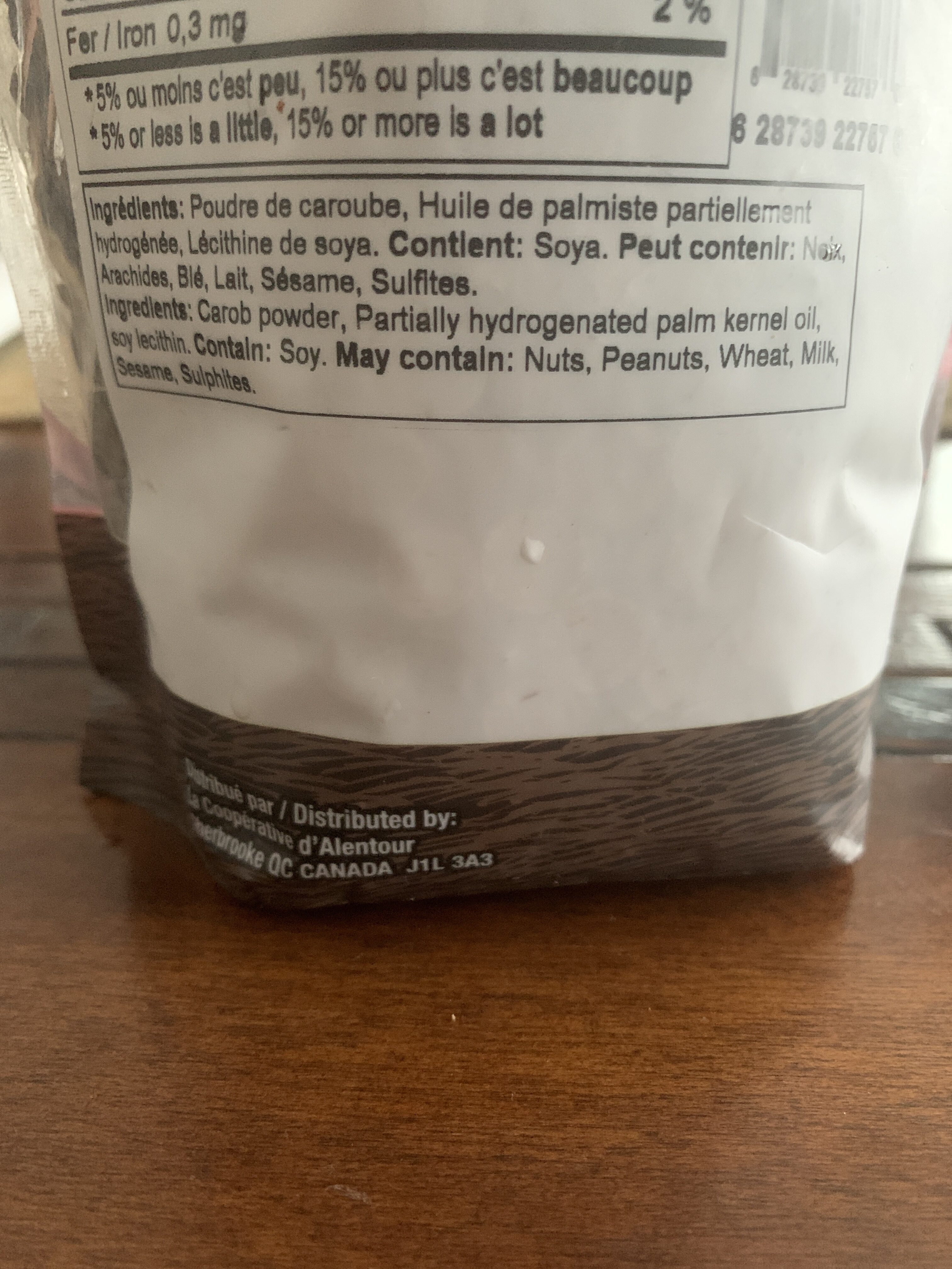 Brisures de caroubes - Ingredients - fr