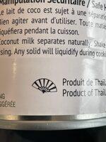 Lait de coco - Instruction de recyclage et/ou informations d'emballage - fr
