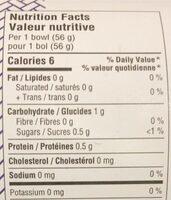 Pousse de bambou - Nutrition facts - fr