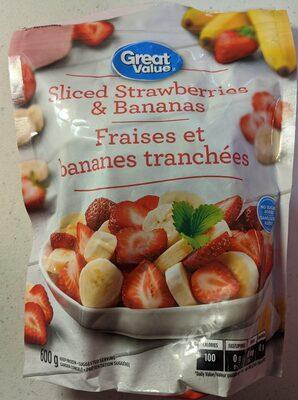 Great Value Sliced Strawberries & Bananas - Product - en