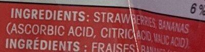 Great Value Sliced Strawberries & Bananas - Ingredients - en