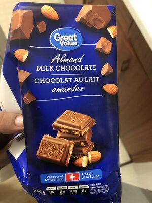Chocolat au lait aux amandes - Product - en