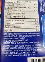 Chocolat au lait aux amandes - Ingredients - en