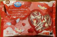 Strawberry & Creme Heart Lollipops - Produit - en