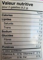 Galette de riz - Informations nutritionnelles - fr