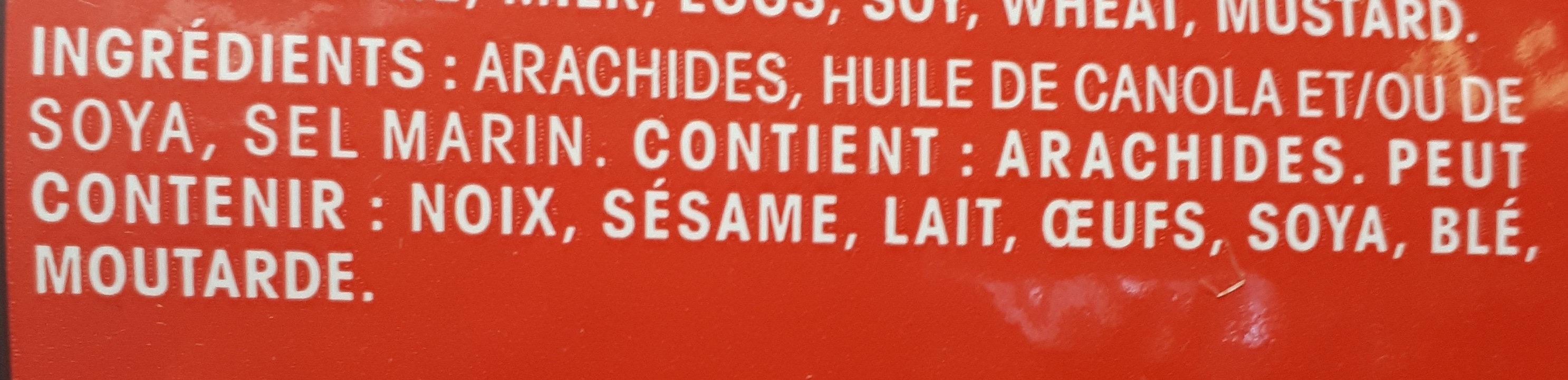 arachides rôties et salées - Ingrediënten - fr