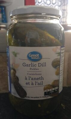 Great Value Garlic Pickles - Product - fr