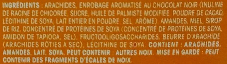 Barre aux noix beurré d arachide - Ingrédients - fr