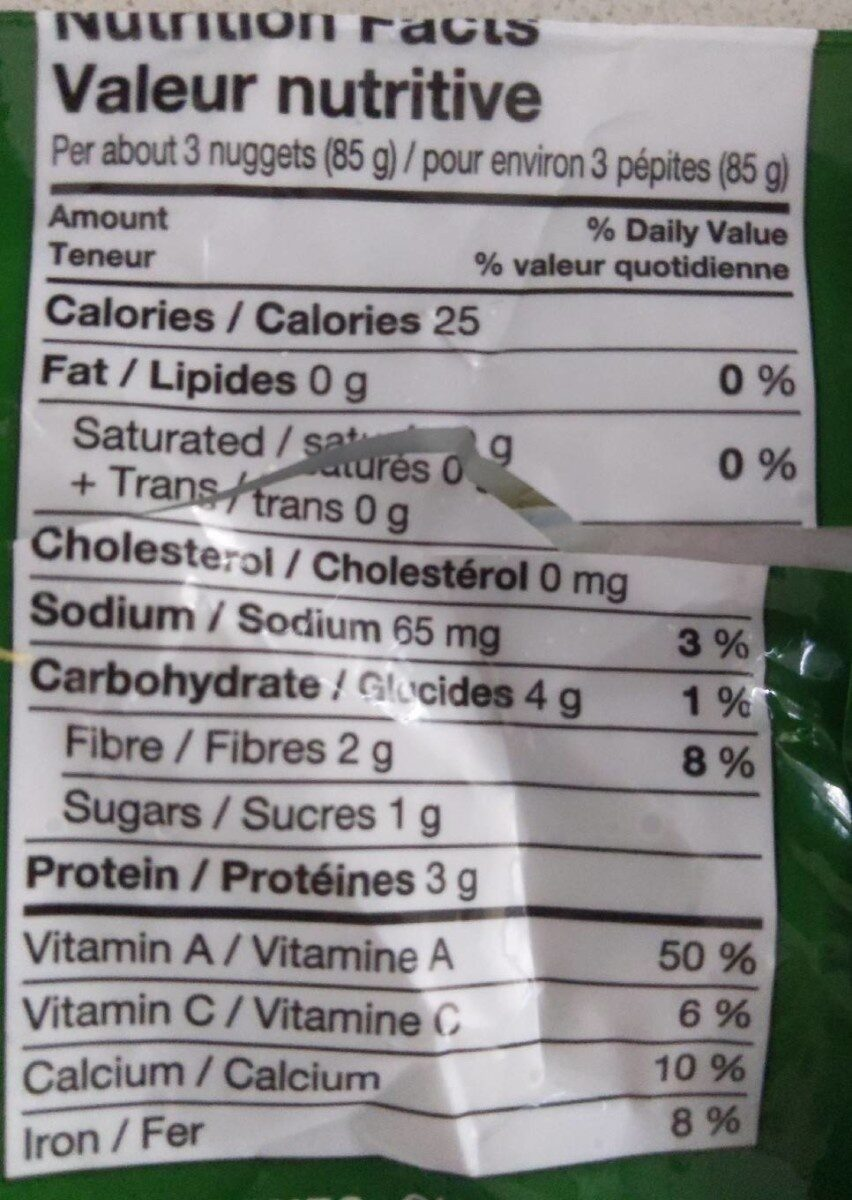 Chopped Spinach - Nutrition facts - en