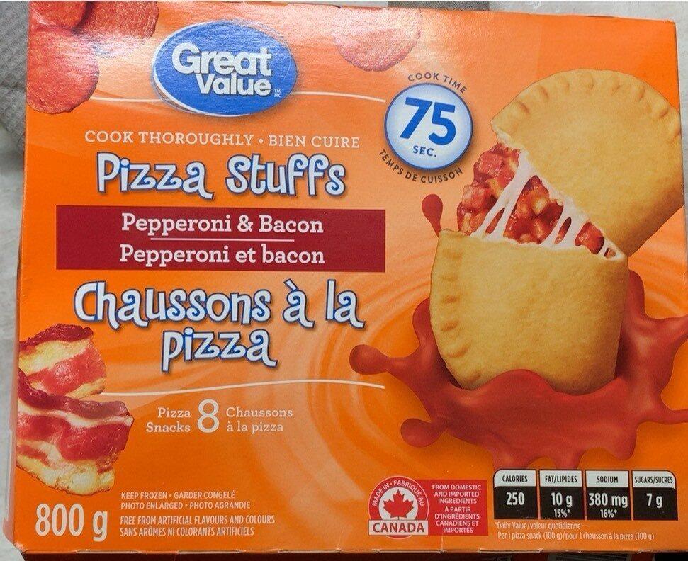Pizza stuffs Pepperoni bacon - Produit - fr