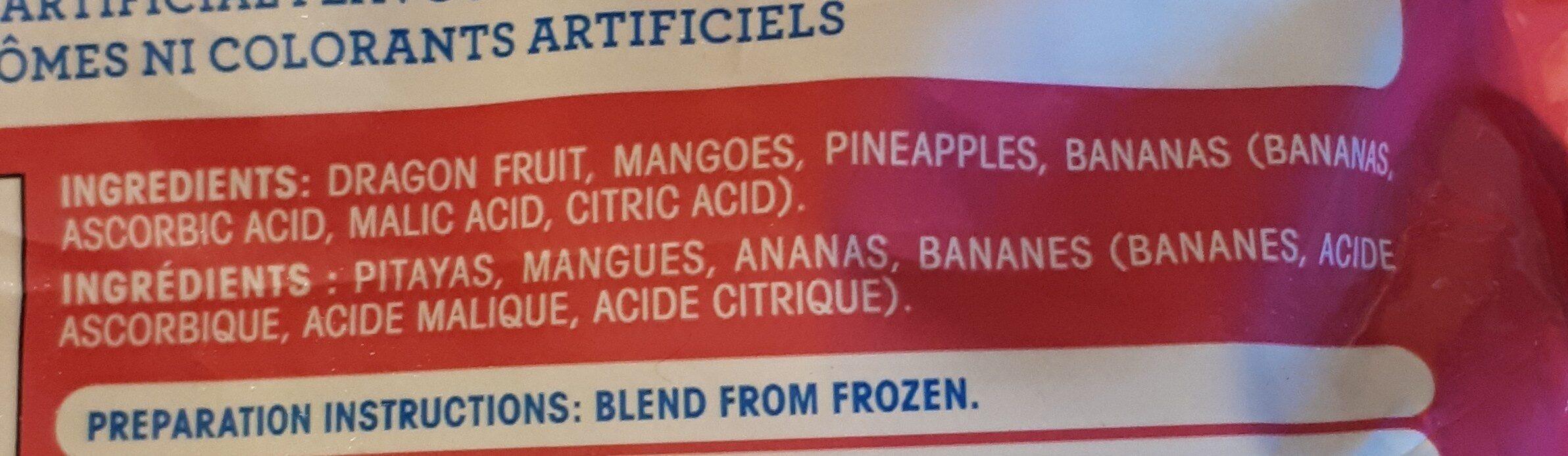 Fruits congelés - Ingrédients - fr