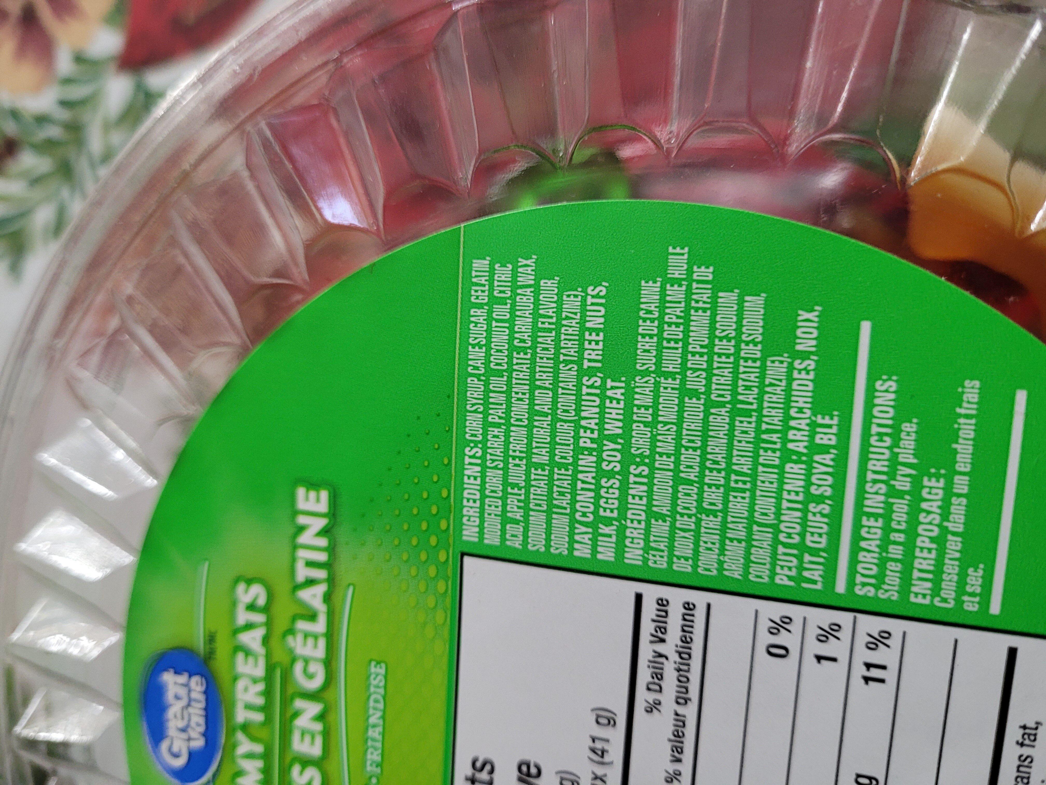 Friandise en Gélatine - Ingredients - en